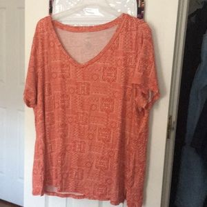 Burnt Orange Bandana Print Top